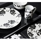 Creative Tops Vivienne Dinner Set, Porcelain, Black/White, 16-Piece