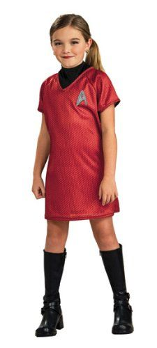 Star Trek Movie Childs Red Dress Medium ** You can find more details by visiting the image link-affiliate link. #FantasyCostumes