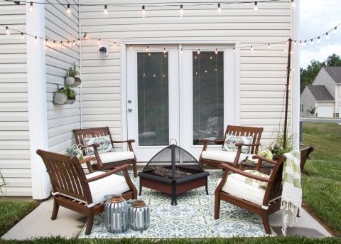 25 best ideas about small patio on pinterest small for Patio furniture for narrow balcony