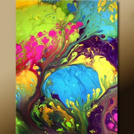 Acrylic pouring just love this art techniques for Artist canvas paint color