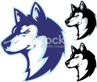 Husky Power II Mascot Royalty Free Stock Vector Art Illustration