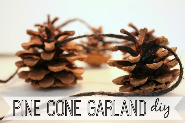 eat.sleep.MAKE.: DIY Pine Cone Garland
