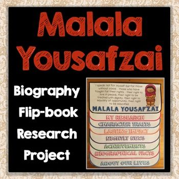 This fun, interactive flippable is a great tool to study historical figures!  Featuring Malala Yousafzai, students will learn her story, her accomplishments, key character traits, and her impact on our world through a combination of writing and illustration.