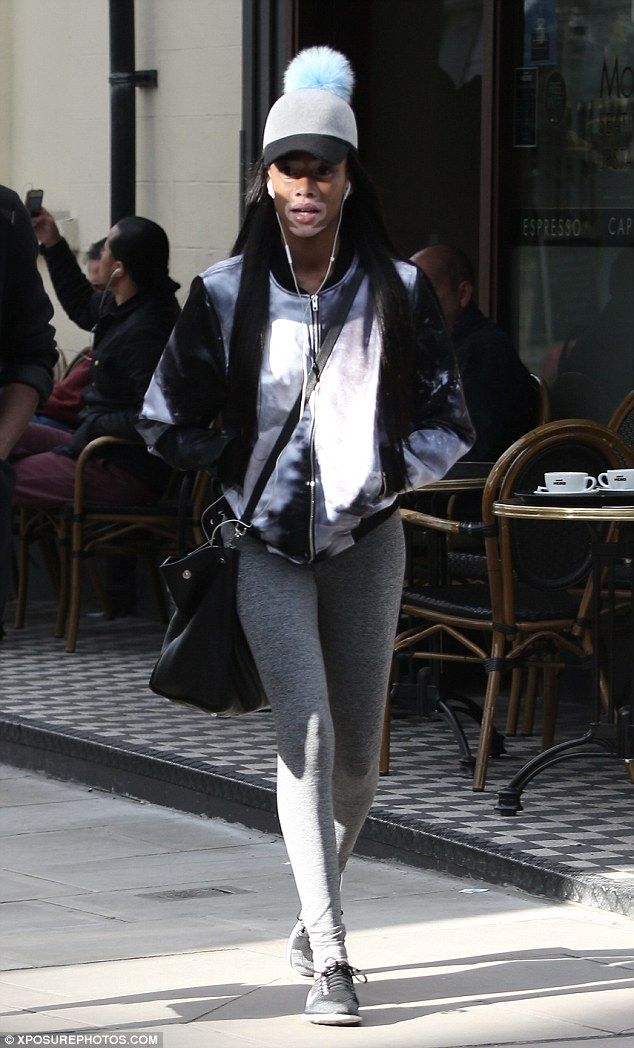 Fashionista: Winnie Harlow sported a sports luxe style when she hit the streets of London ...