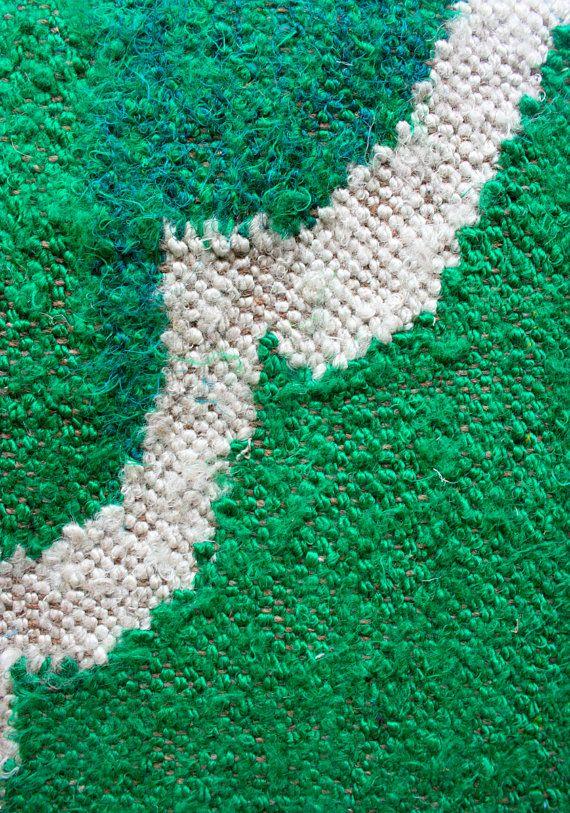 Oh My Emerald  Floor rug in 6 x 9 Feet by gypsya on Etsy, $456.00
