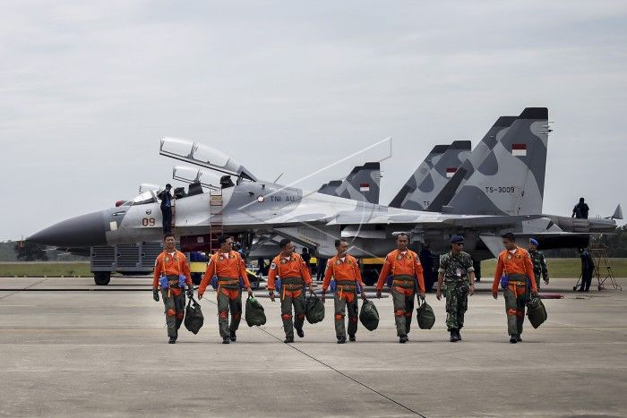 Penerbang Sukhoi Skadron Udara 11 Laksanakan Latihan Terbang Malam