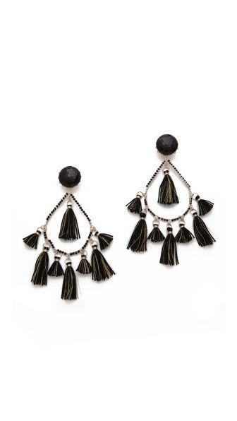 Mercedes Salazar Chandelier Thread Earrings