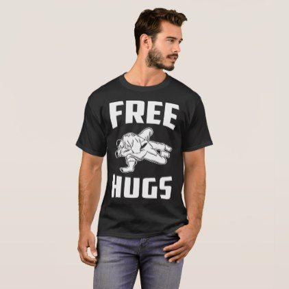 Free Hugs Jiu Jitsu BJJ Gift Gift Tee  $25.65  by ReutMorDesigns  - cyo customize personalize unique diy idea
