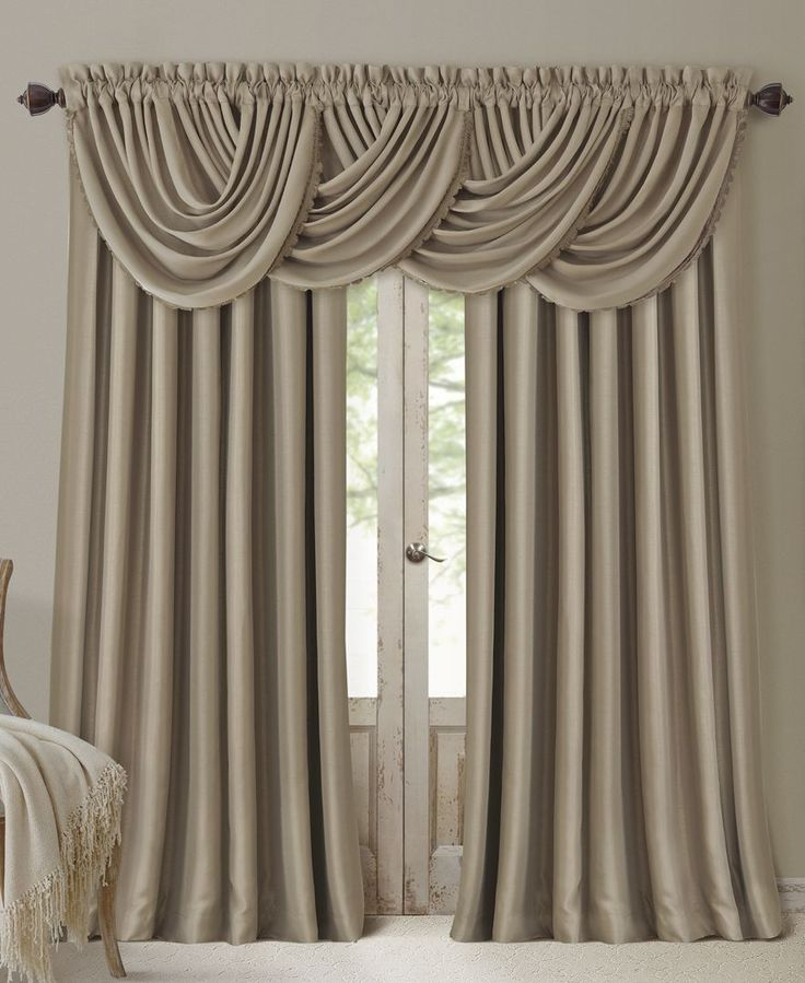 Elrene All Seasons Blackout Rod Pocket/Back Tab 52'' x 84'' Curtain Panel