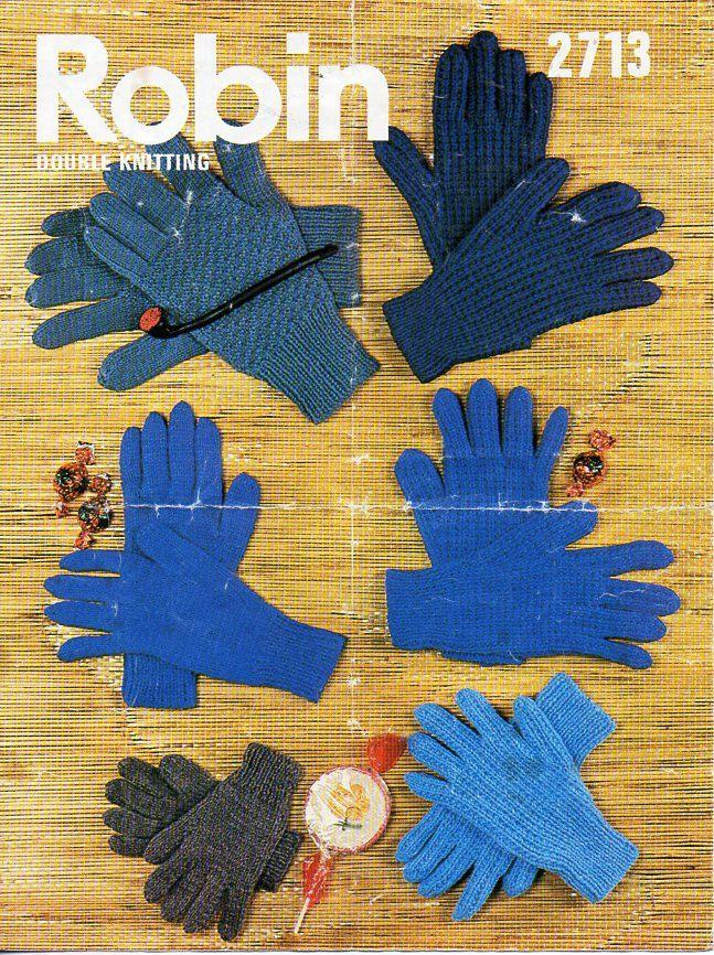 128 best Vintage Adult Gloves / Hats / Socks Knitting Patterns ...
