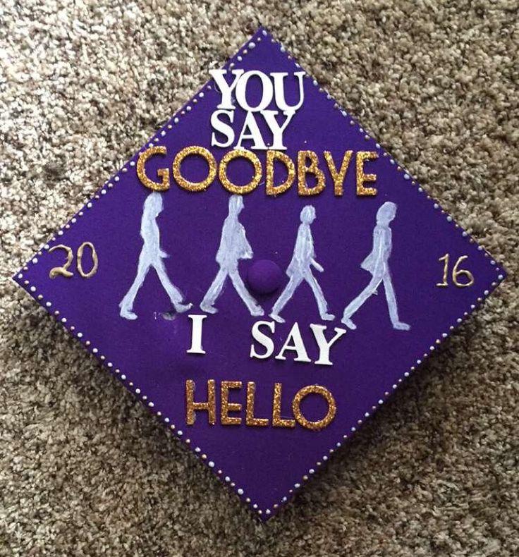 Decorated Beatles themed graduation cap!