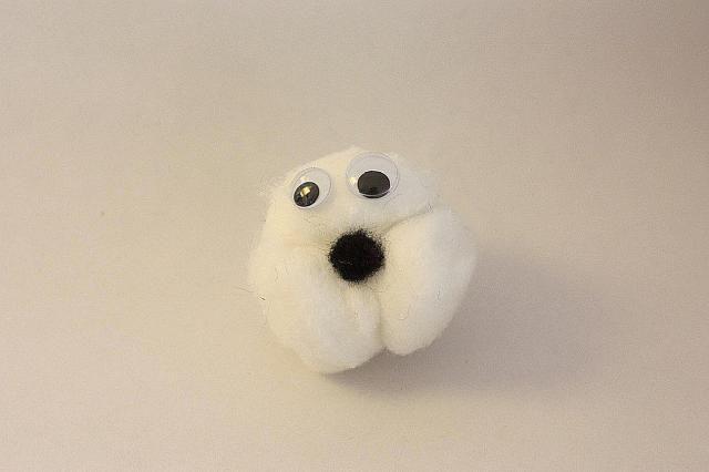 Ovejita de algodón: Pega los algodones