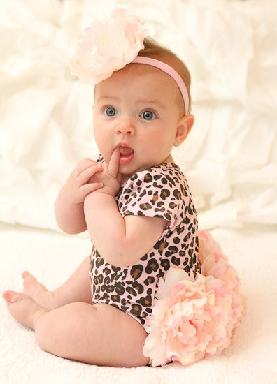 Pink Cheetah Princess Flower One Piece...