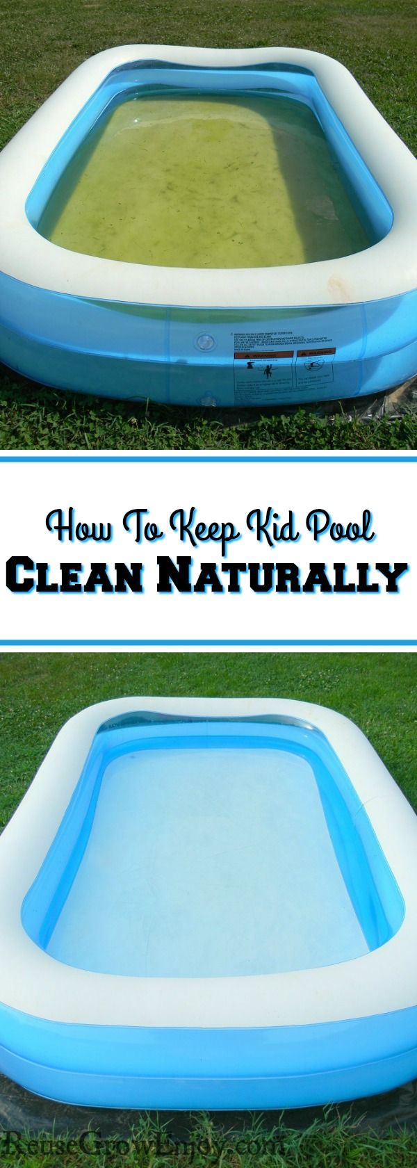 Don't you hate how fast a kiddie pool turns green? I am going to show you a tip on how to keep a kid pool clean naturally without chemicals.