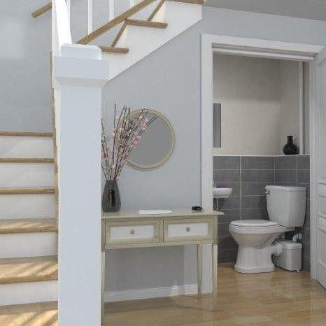 Best Upflush Toilet Ideas On Pinterest Basement Toilet - Macerator pump for basement bathroom for bathroom decor ideas