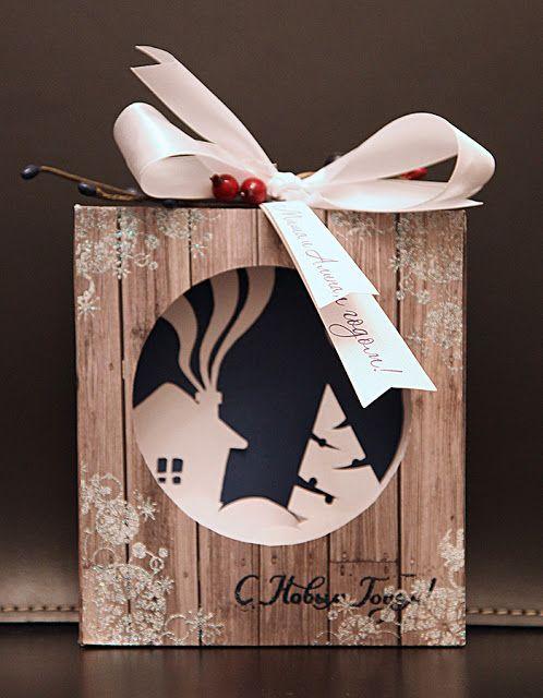 Ручные подарки по поводу и без: Новогодняя открытка-туннель