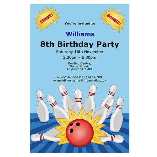 19 best Bowling Party images on Pinterest Birthdays, Bowling - bowling flyer template free