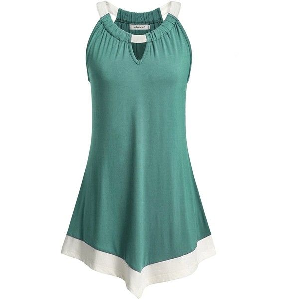 Tank Tops for Juniors, Helloacc Tunic Off Shoulder Hollow Out Camisole... ($26) ❤ liked on Polyvore featuring tops, green cami top, green off shoulder top, cami top, off the shoulder tops and burgundy top