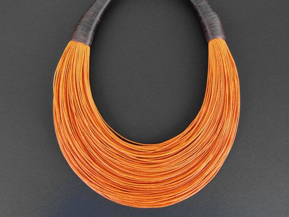 Declaración fibra collar joyería africana por superlittlecute