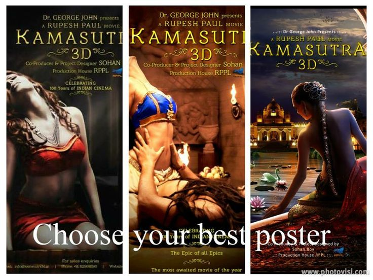 Choose your best Kamasutra 3D poster! Like for 3rd option Share for 2nd option Comment for 1st option