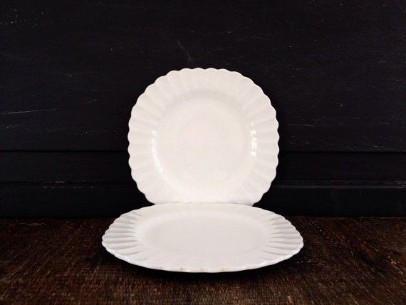 Two unusually shaped ironstone plates & 60 best ironstone images on Pinterest | Dishes Dinner plates and Dish