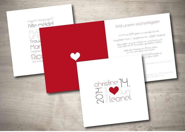 Elegant Einladungskarte Hochzeit   Modern Art