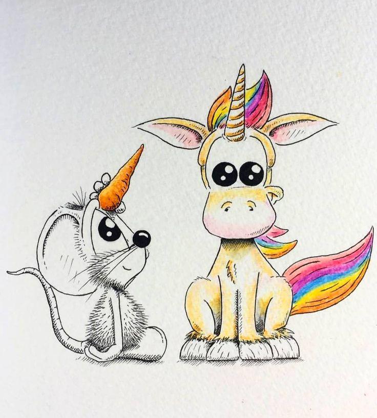 Картинки забавных животных для срисовки