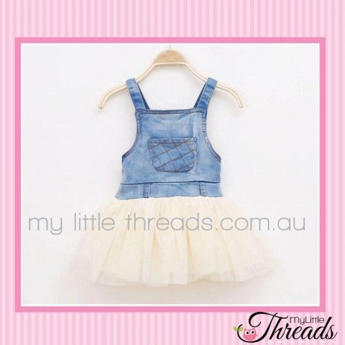 Denim Tutu Dress Lovely soft denim with a flowing cream tulle bottom. Perfect for a summer BBQ.