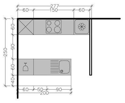 8 plans de cuisine parallèle (face à face) : différentes solutions possibles - Côté Maison