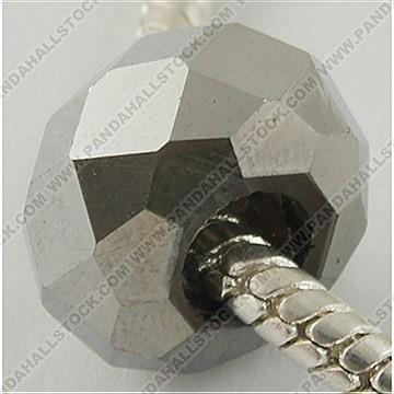 Galvanisieren Glass European Beads