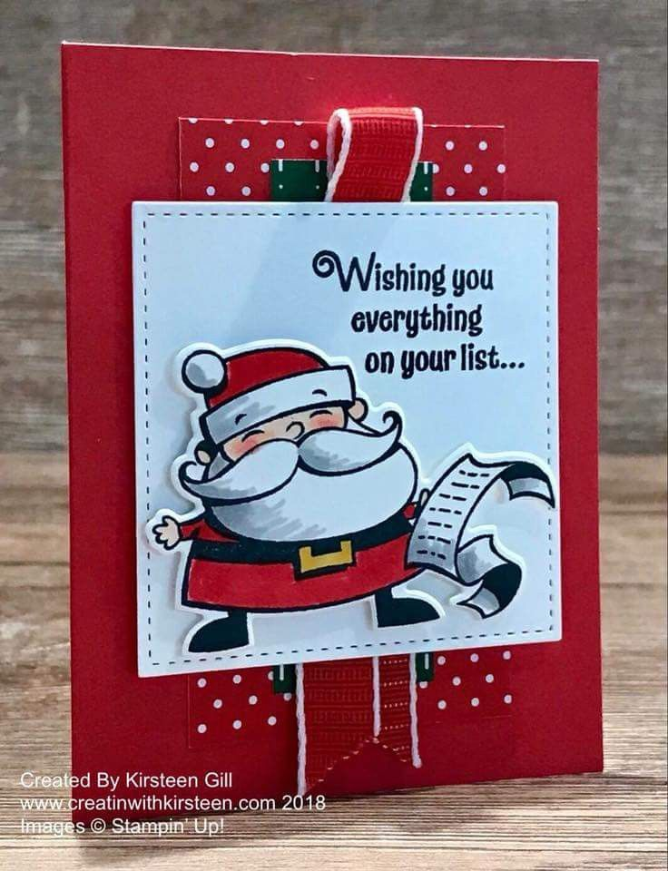 Stampin\' Up! signs of Santa | SU- Signs of Santa | Pinterest | Santa ...