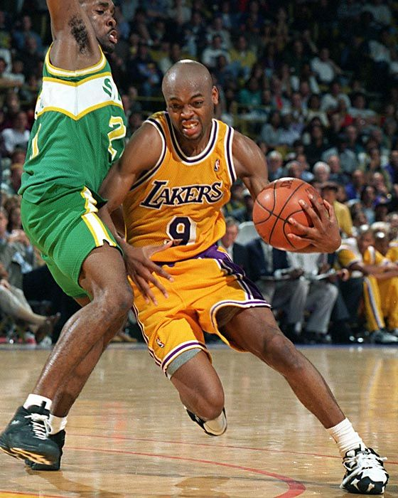 Nick Van Exel Los Angeles Lakers Gary Payton Seattle Supersonics