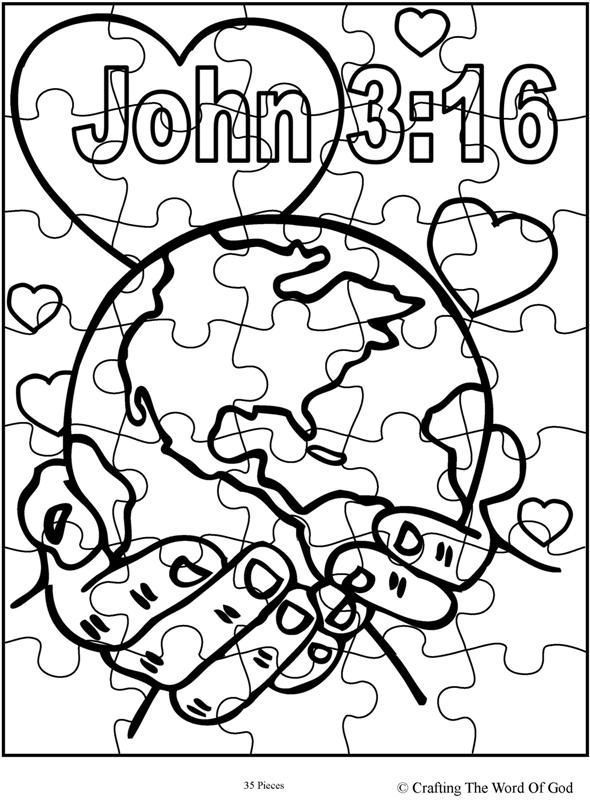 John 3 16 Preschool Coloring Worksheets