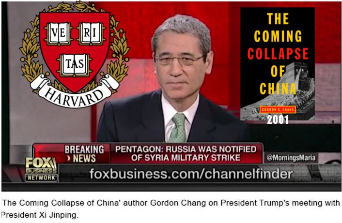Harvard Quack Gordon Chang Predicts Collapse of China during President Trump's meeting with President Xi Jinping