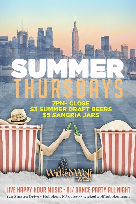 NEW Summer Thursdays! Thursday's are the new Friday's during the Summer, so let's treat em that way! June 25, 2015