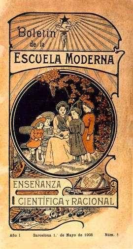 Portada del Boletín de la Escuela Moderna de 1905