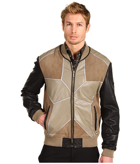 Just Cavalli Star Leather Jacket - Jachete - Imbracaminte - Barbati - Magazin Online Imbracaminte