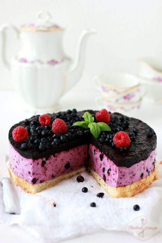Sernik jagodowy bez pieczenia / No-Bake Blueberry Cheesecake