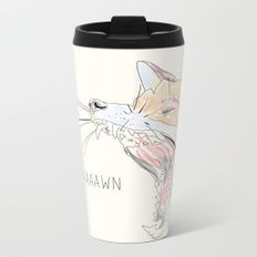Yaaaawn Fox Metal Travel Mug