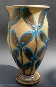 Art nouveau vase by Herman A. Kahler, Denmark.