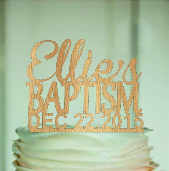 babtism cake topper and Name Personalized   God by EDESIGNLASER