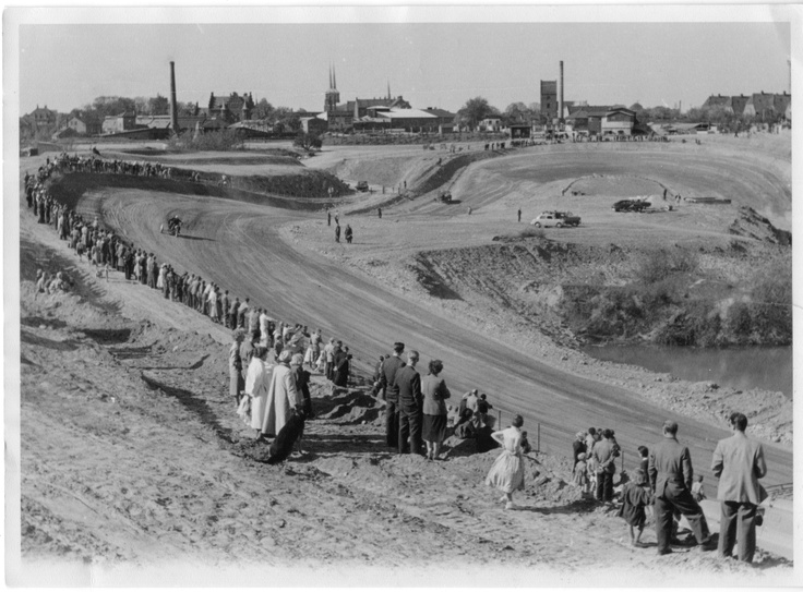 Testing the track. Presumably early 1955