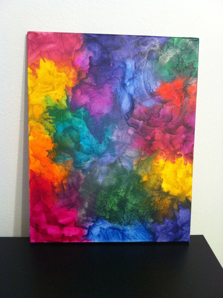 76 best images about crayon canvas art on pinterest for How to melt crayons on canvas