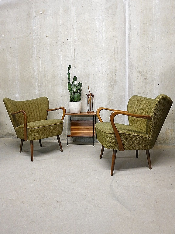 Danish armchairs vintage design cocktail chairs fifties. Ik wil zo'n stoel!