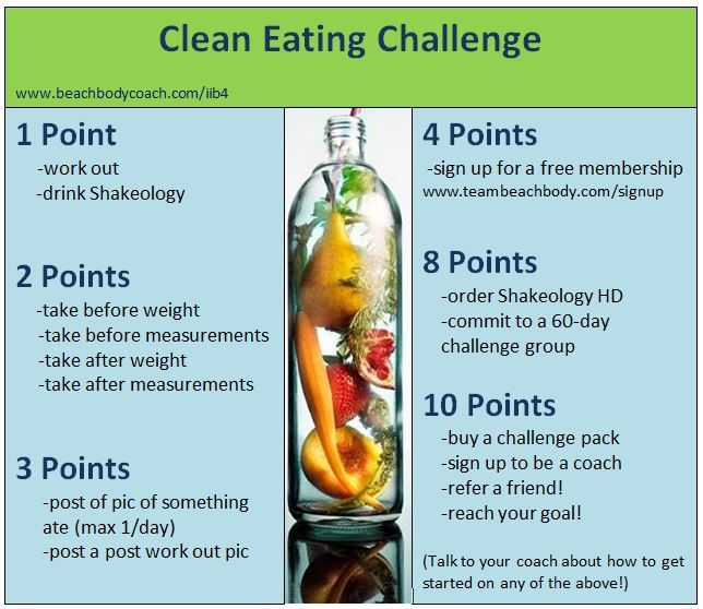 As a Team Beachbody coach, I've decided to try something new to make my free clean eating challenges more lively by adding a little competition! www.beachbodycoach.com/lmj75