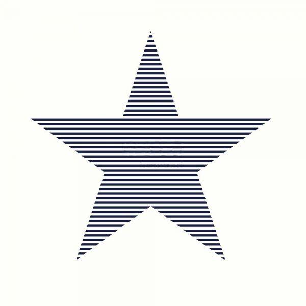 Stilren tapet med stora stjärnor från kollektionen Everybody Bonjour 138706. Klicka för att se fler fina tapeter för ditt hem!