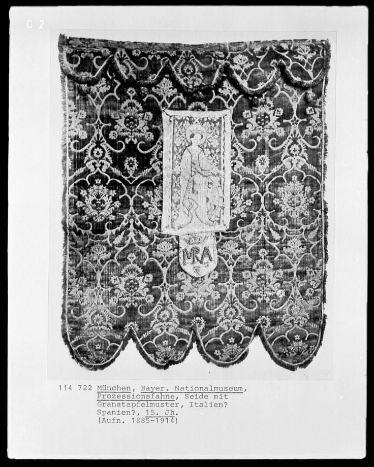 15th century Italian banner. Held at Germanische Nationalmuseum (website: www.gnm.de/) The Germanic National Museum is the largest museum of cultural history of the German language area.