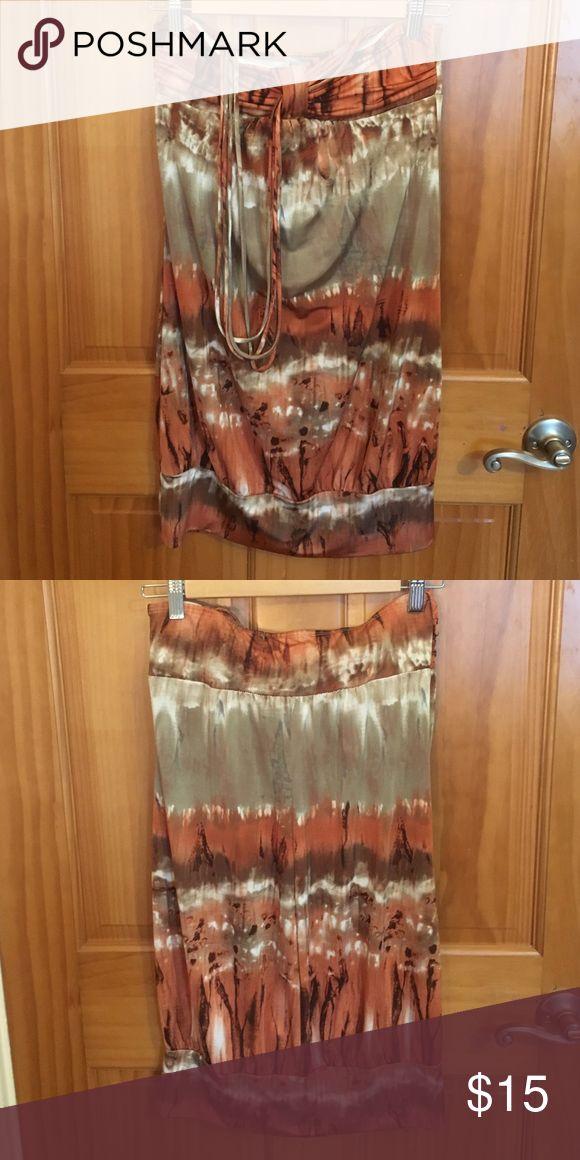 Strapless/Halter top summer dress Excellent condition. Spring / summer dress. Trixxi Dresses Strapless