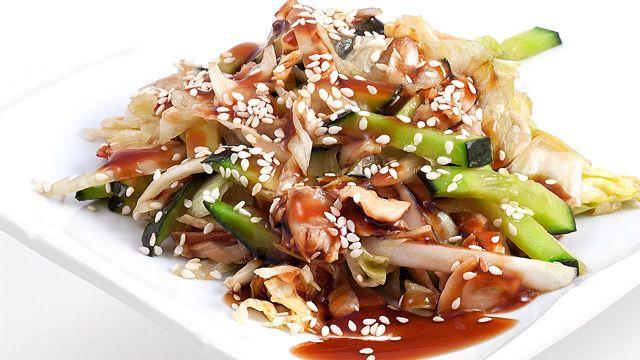 Салат копчёный морской угорь