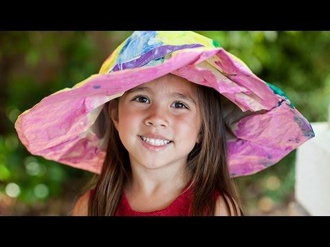 DIY With Debra: How To Make Hats Out Of Paper Towels - YouTube